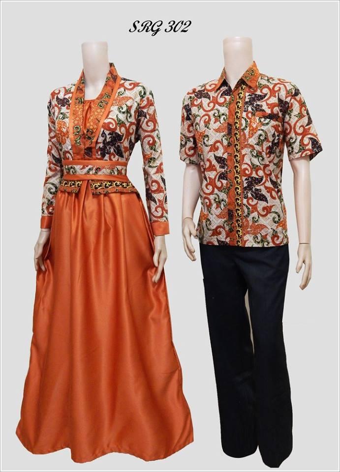Baju Batik Pasangan Model Gamis Srg 302