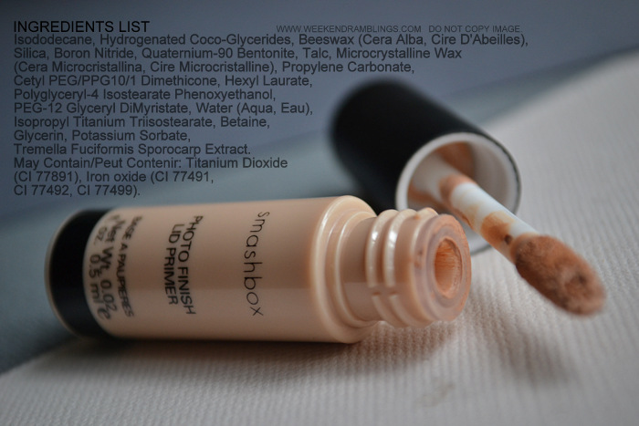Smashbox Photo Finish Eyeshadows Makeup EyeLid Primer Indian Beauty Blog Reviews Swatches FOTD Warm Beige Ingredients