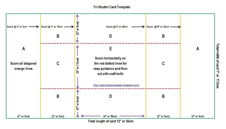 tri fold card template free