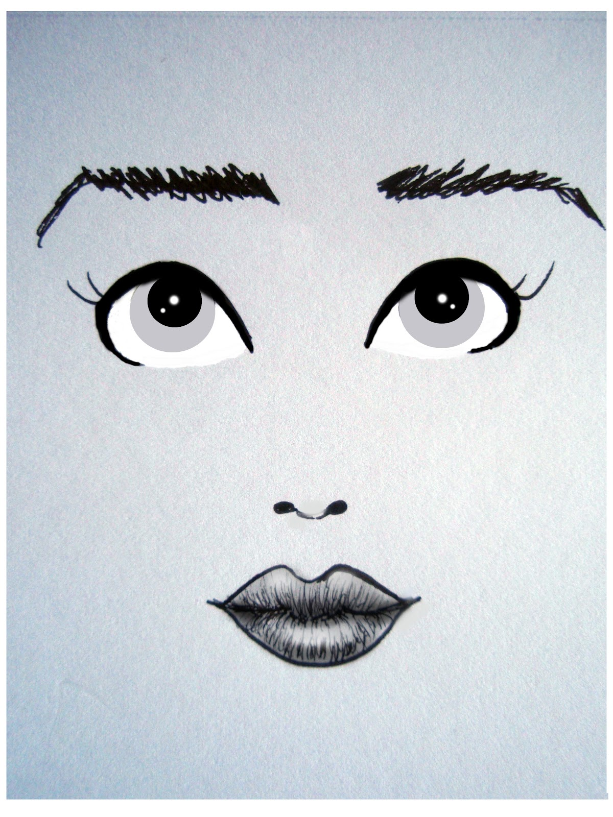 how to draw eyes looking to the side