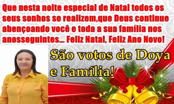 MENSAGEM DE NATAL E ANO NOVO DE DOYA E FAMILIA!