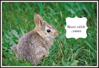 roast rabbit, bunny