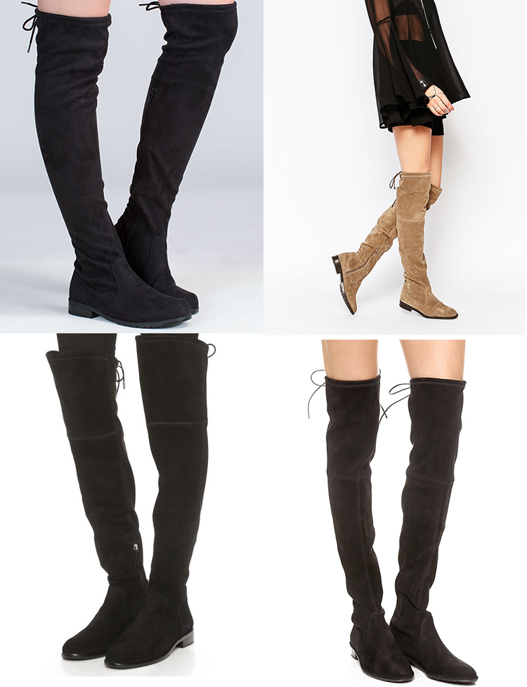 stuart weitzman lowland dupes, affordable over the knee boots,