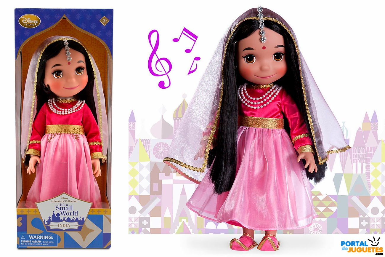 muñeca india its a small world disney animators