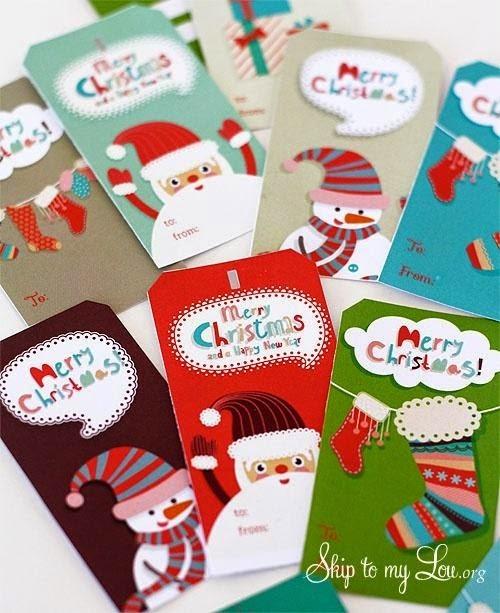 http://www.skiptomylou.org/2012/12/21/free-printable-christmas-gift-tags/