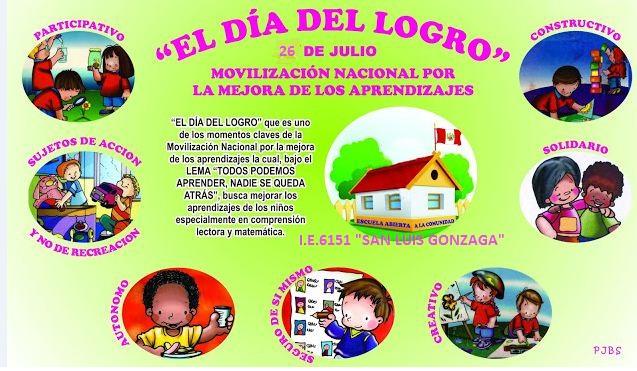 INVITACIÓN A TODOS LOS PADRES Y LA COMUNIDAD AL DÍA DEL LOGRO