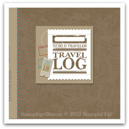 Stampin' Up! On Holiday Photobook Template Cover