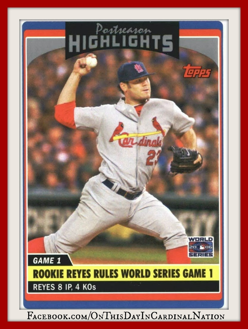 On October 21 2006 The Cardinals Took Game 1 Of World Series With A 7 2 Victory Over Tigers In Detroit Was Matchup Rookie Pitchers