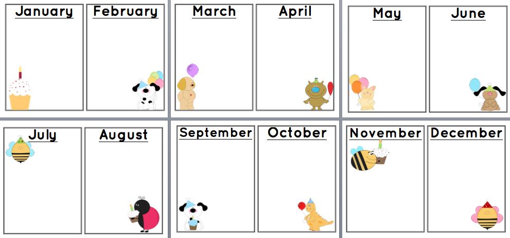 Free Printable Birthday Charts | New Calendar Template Site