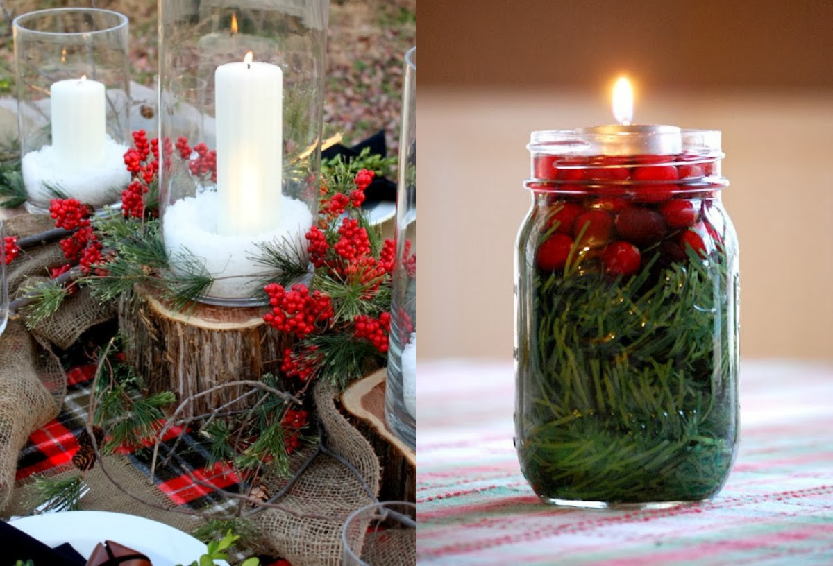 Christmas Candle Centerpiece Ideas