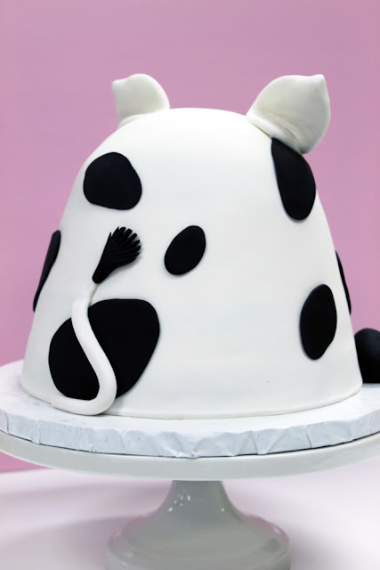 Kids Baby Cow Birthday Cake