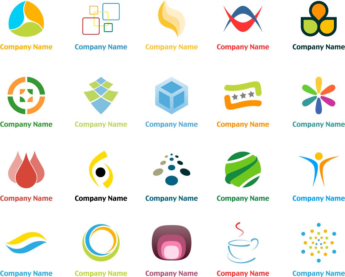 実用的なロゴデザイン見本 Free Logo Elements イラスト素材