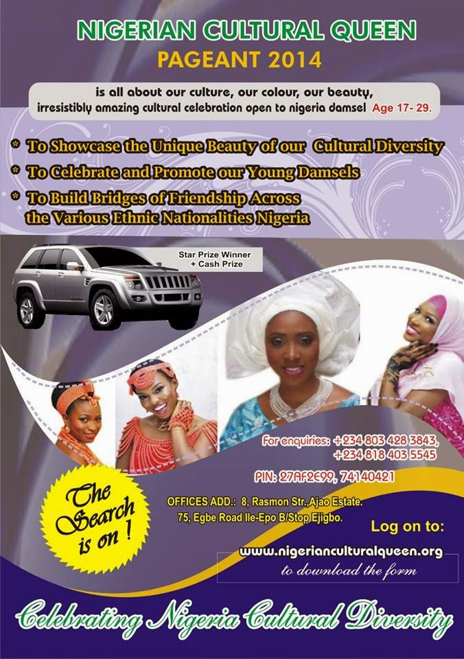 NIGERIA  CULTURAL QUEEN PAGEANT 2014 2014