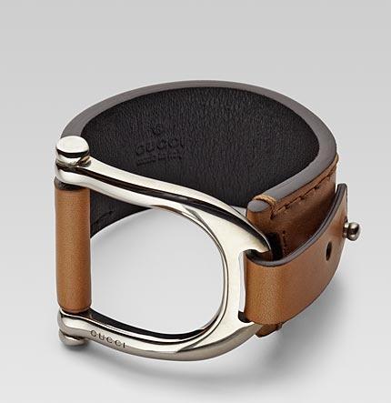 Desejo dia - Pulseira Gucci em pele bracelete em pele couro