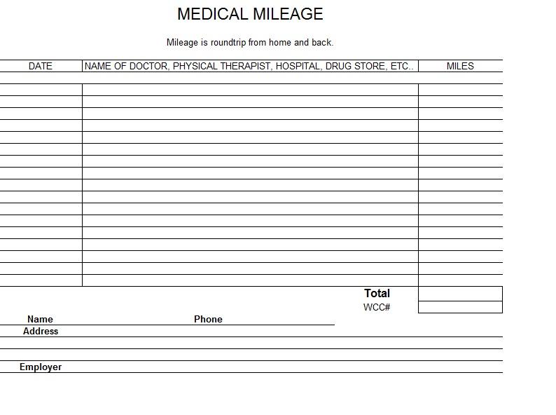 Irs Mileage Log Template Excel Mandegarfo