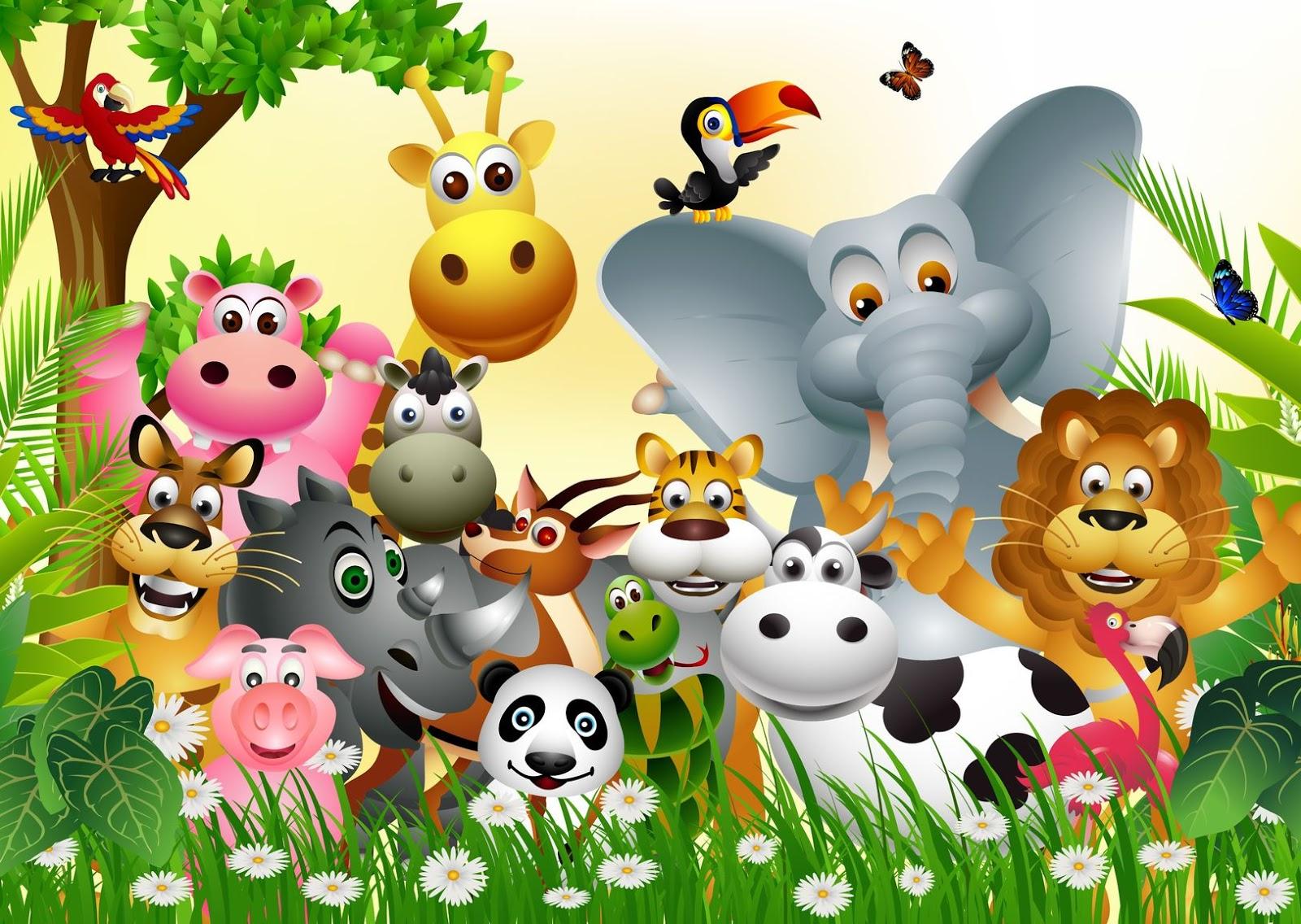 Banco de im genes animales del zool gico en una hermosa - Imagenes animales infantiles ...