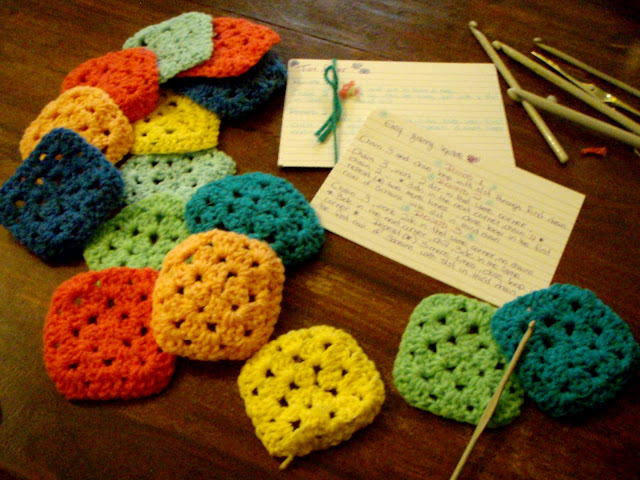 granny squares easy yarn small