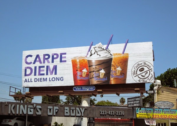 Carpe Diem Coffee Bean ice blended billboard