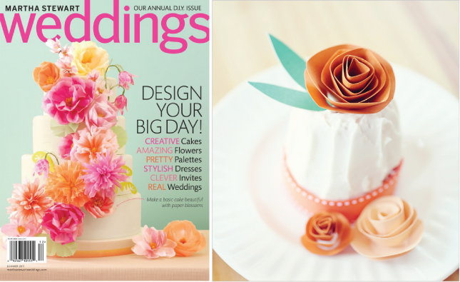6 stylish ways to incorporate paper flowers in a sophisticated they also look really cute on mini cakes i would add a little sparkle to any of the cakes in the second row what do you think image sources row 1 left mightylinksfo