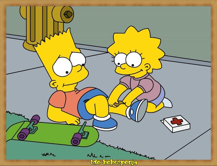 Imagen de Lisa y Bart