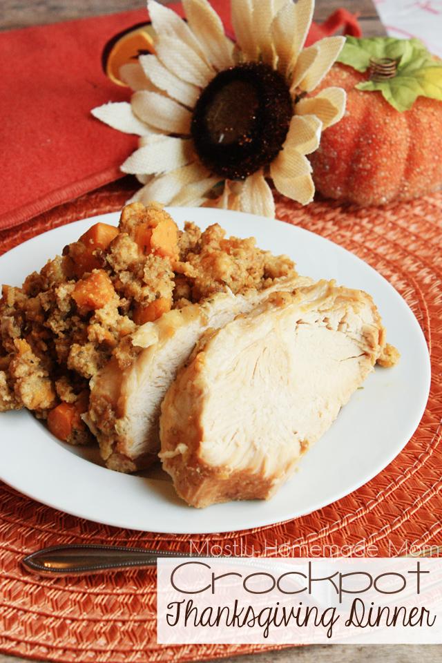 Crockpot thanksgiving dinner recipe video mostly homemade mom crockpot thanksgiving dinner forumfinder Gallery