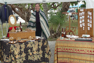 Vicky with her Shore Debris display at the Placida Art Market