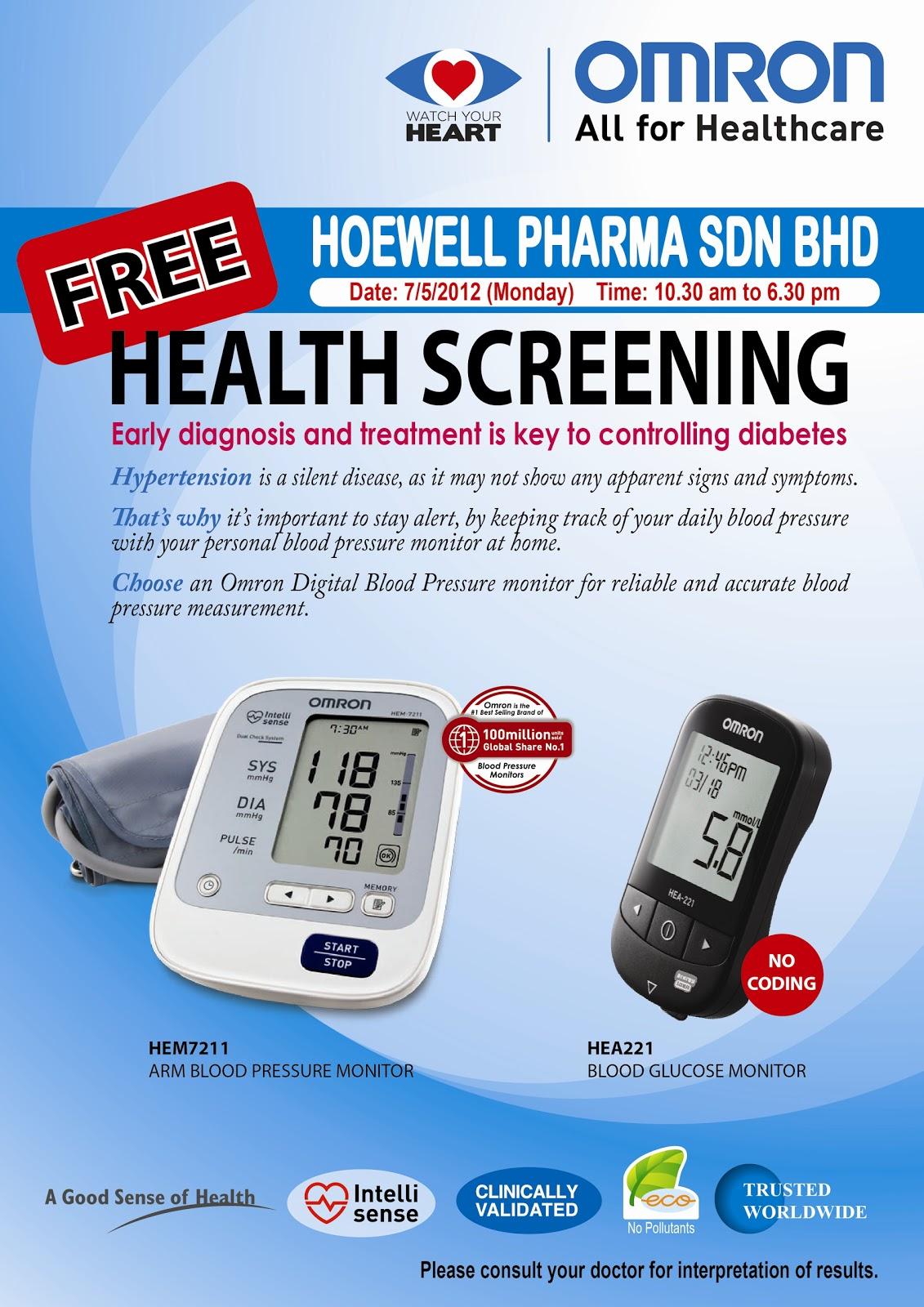 Zestzfulness Free Health Screening Blood Pressure And