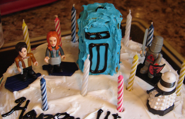 ... girl who brought out our pizza exclaimed Is that a Doctor Who cake