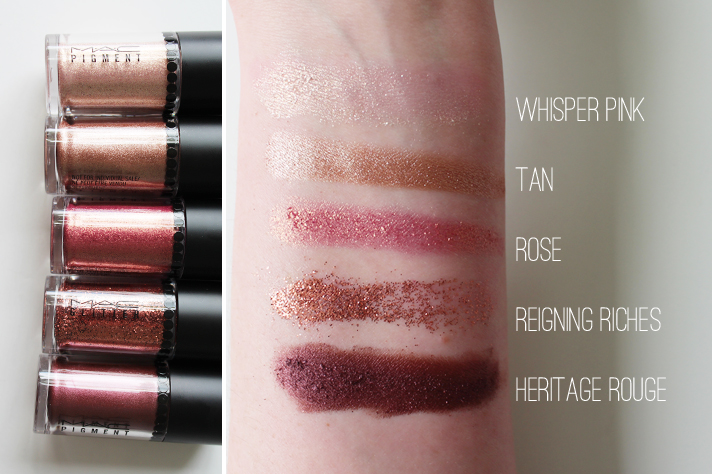 MAC // Heirloom Collection - Pigments, Blush + Lipstick | Review + Swatches - Objects of Affection Pink Pigments + Glitter - CassandraMyee