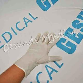 harga sarung tangan powder non steril latex gloves