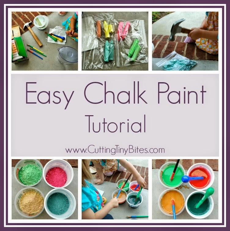 DIY Tutorial for sidewalk chalk paint. EASY!