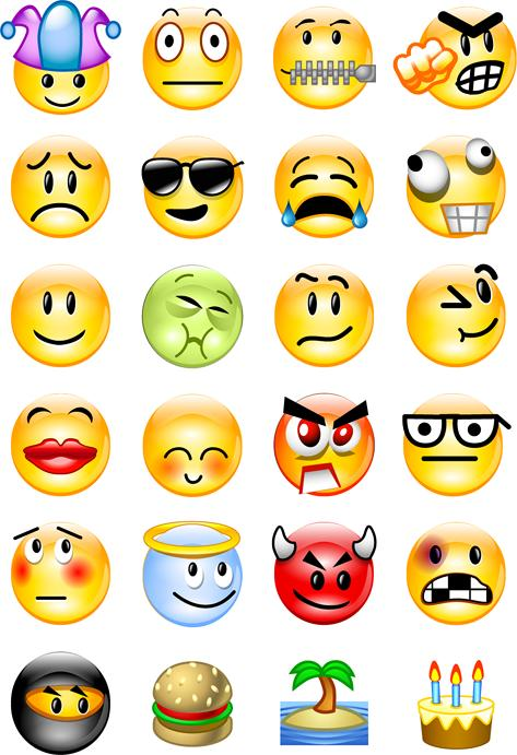 emotions list with faces pdf