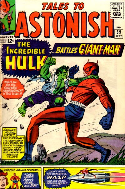 Tales to Astonish #59, the Hulk vs Giant Man