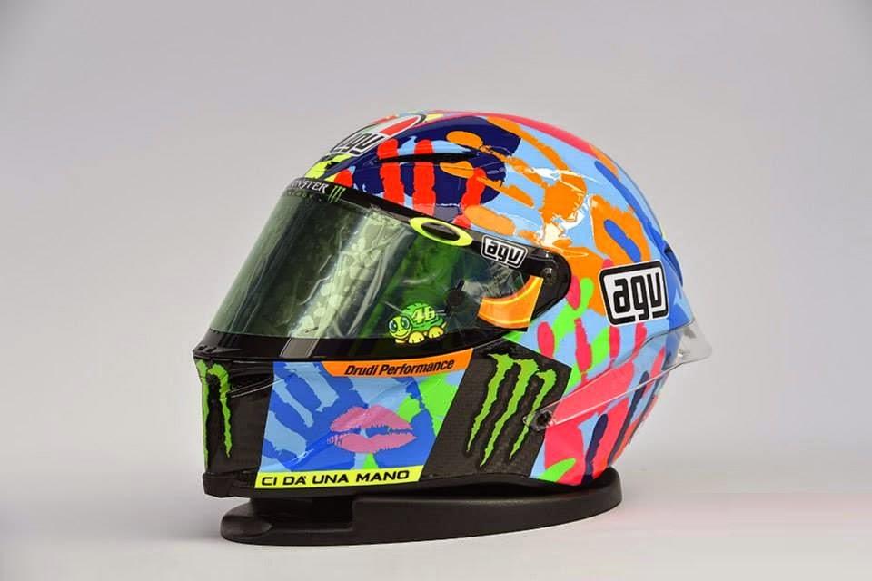 Champion Helmets Agv Corsa Misano 2014 Handprint Helmet