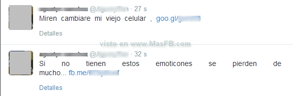 SPAM emoticones Twitter - MasFB