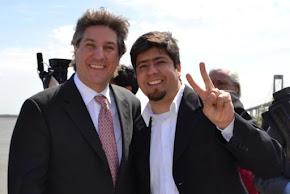 Junto AMADO BOUDOU Vicepresidente de la Nación