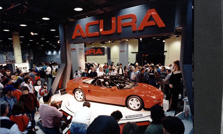 Honda NSX japoński supercar sportowy samochód kultowy centralnie V6 RWD Acura 1989