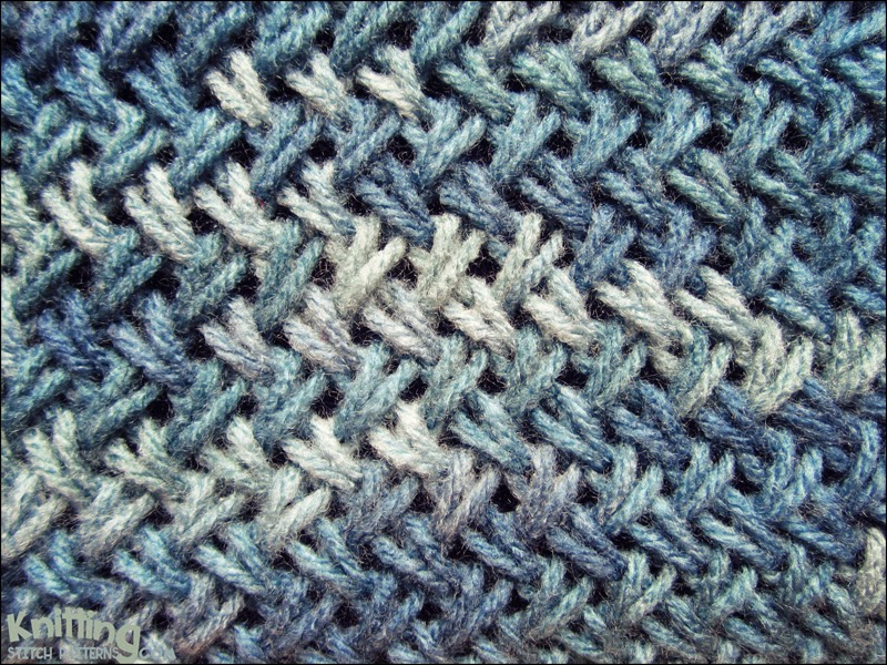 Cross Knit Loop Stitch : Criss-Cross Stitch Knitting Stitch Patterns