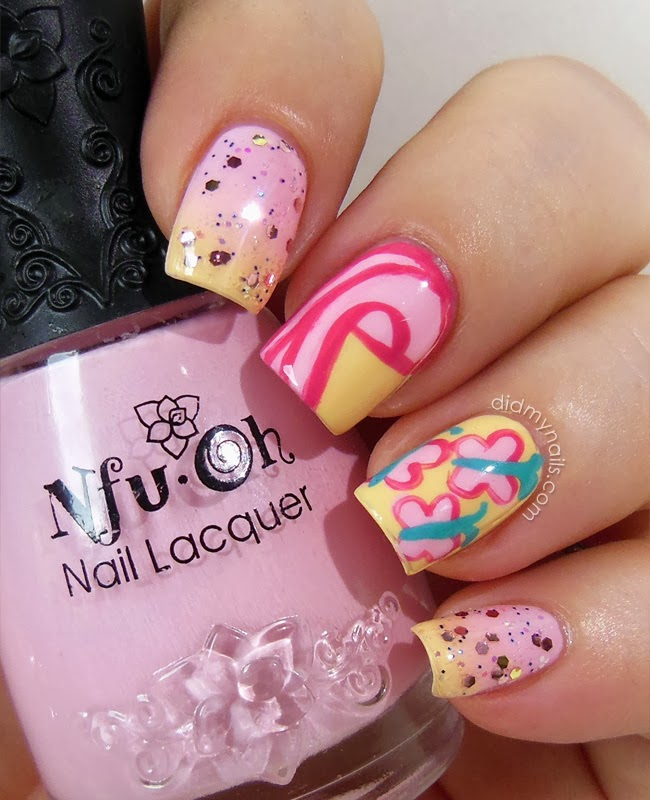 Did my nails twinsie tuesday fluttershy nail art my little pony fluttershy nail art prinsesfo Gallery