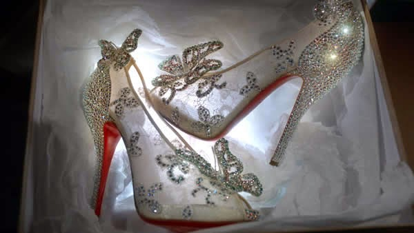 cinderella bridal wedding shoes for brides