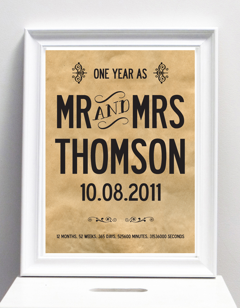 1 Year Anniversary Gifts For Husband Paper : celebrating the first year as husband and wife i love design