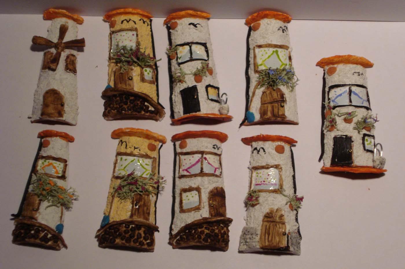 Mini teja decorada en relieve - Tejas pequenas decoradas ...