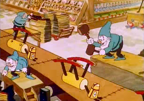 Santa's Workshop, 1932, Walt Disney
