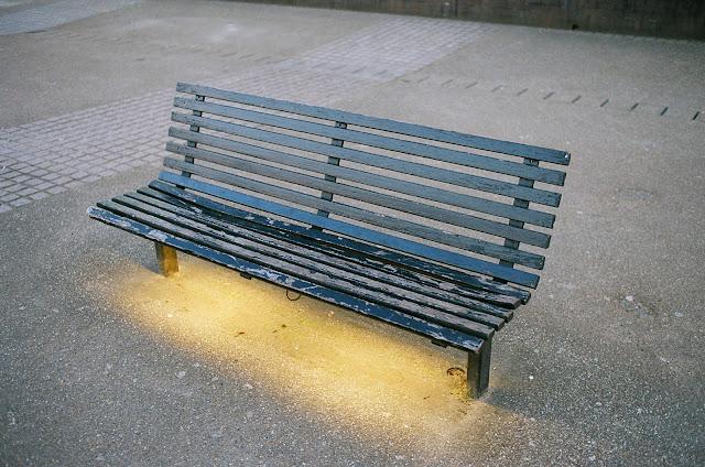 London bench Gabriel's Wharf Southbank