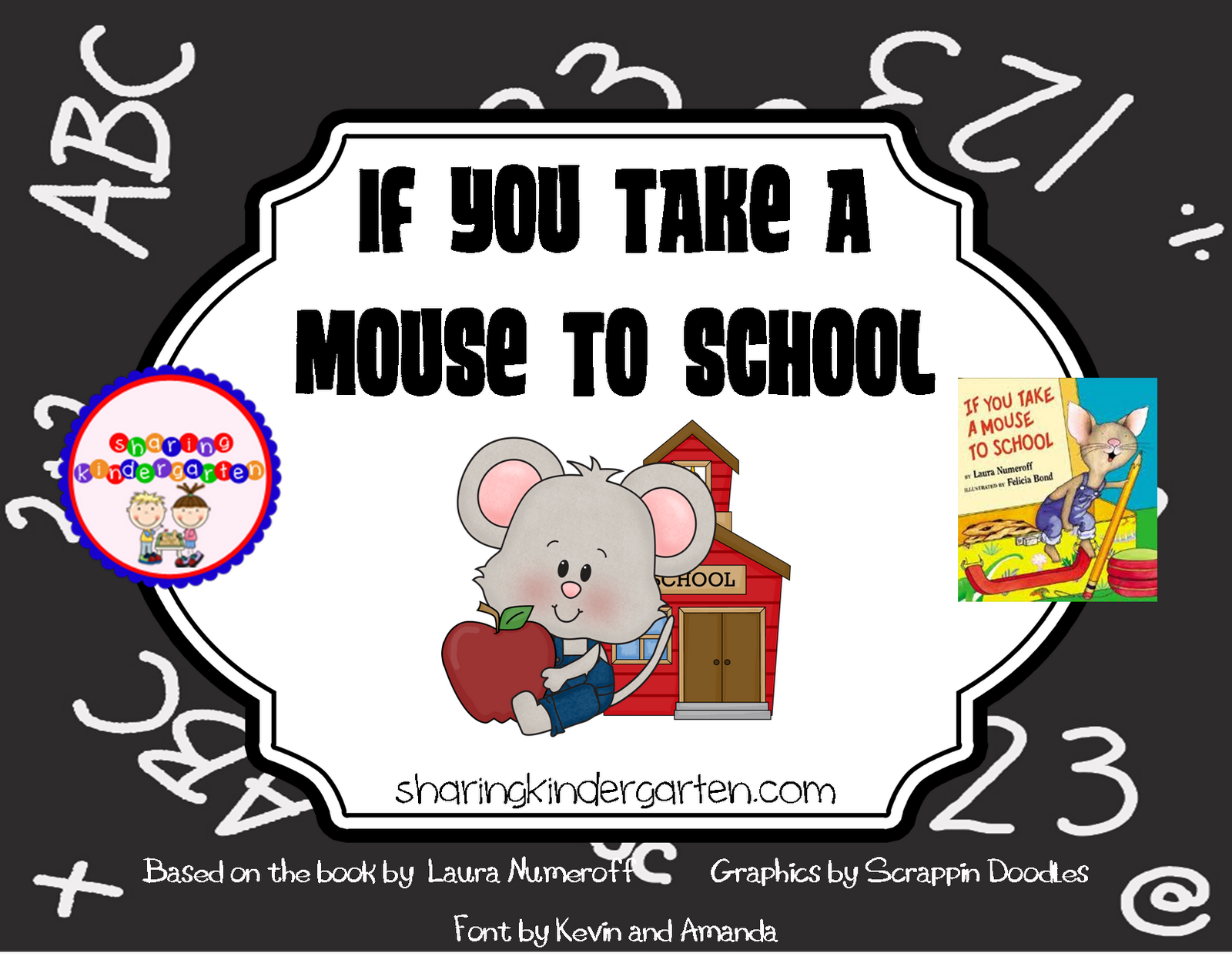 Worksheets If You Take A Mouse To School Worksheets its back to school sale time sharing kindergarten