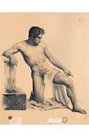 MARIANO FORTUNY Desnudo masculino c. 1855