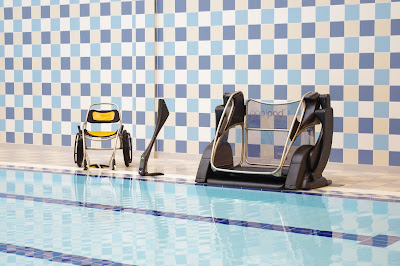 Poolpod with custom designed aqua wheelchair