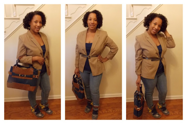 OOTD with wedge sneakers, blazer