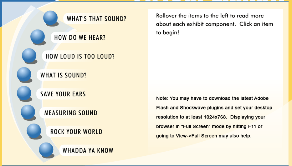http://www.dangerousdecibels.org/virtualexhibit/