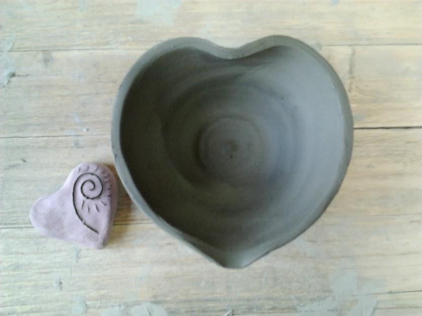 ciotola cuore ceramica handmade formae mentis